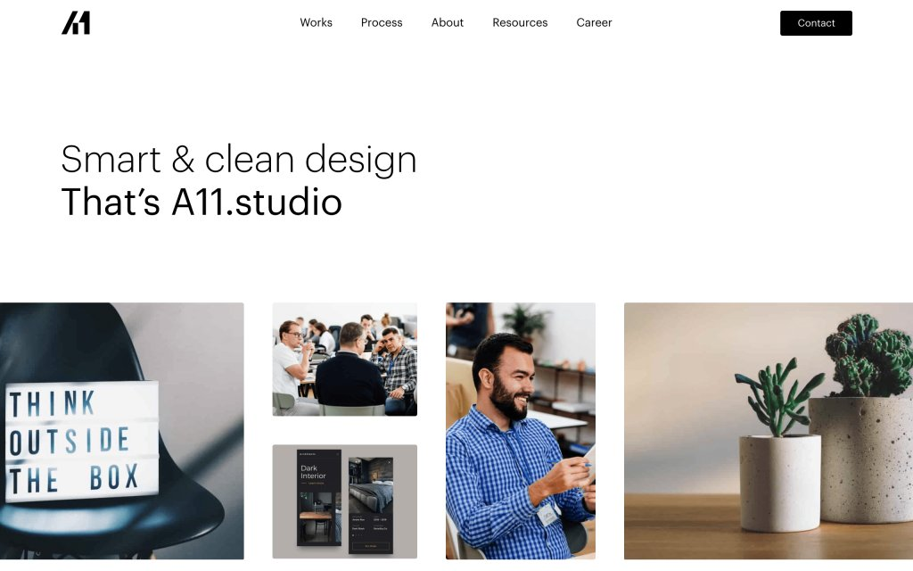 Screenshot of the website A11.studio