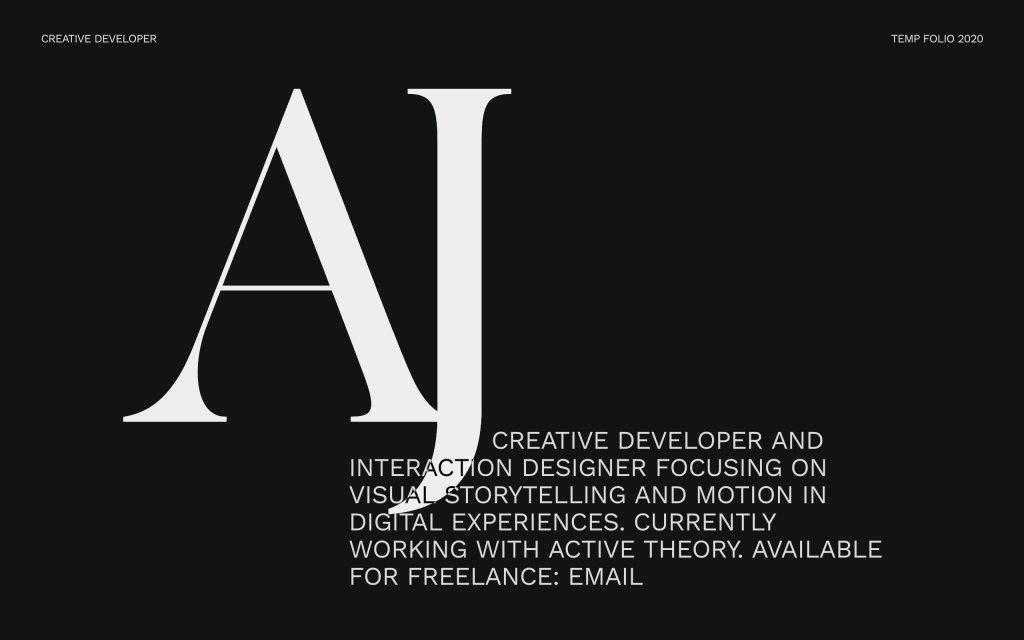 Screenshot of the website Ajayns