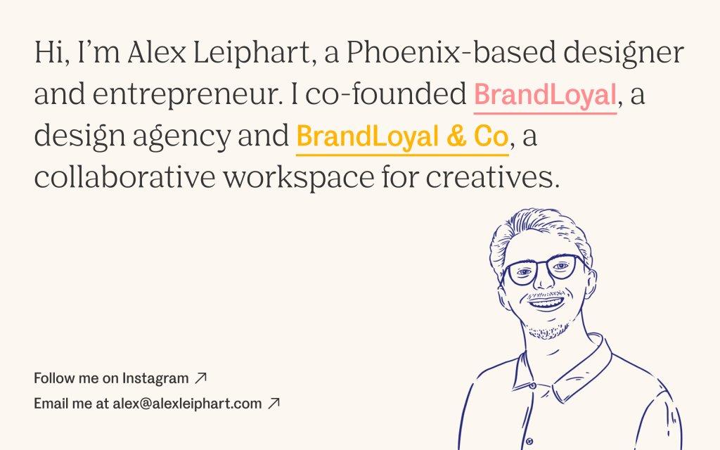 Screenshot of the website Alex Leiphart