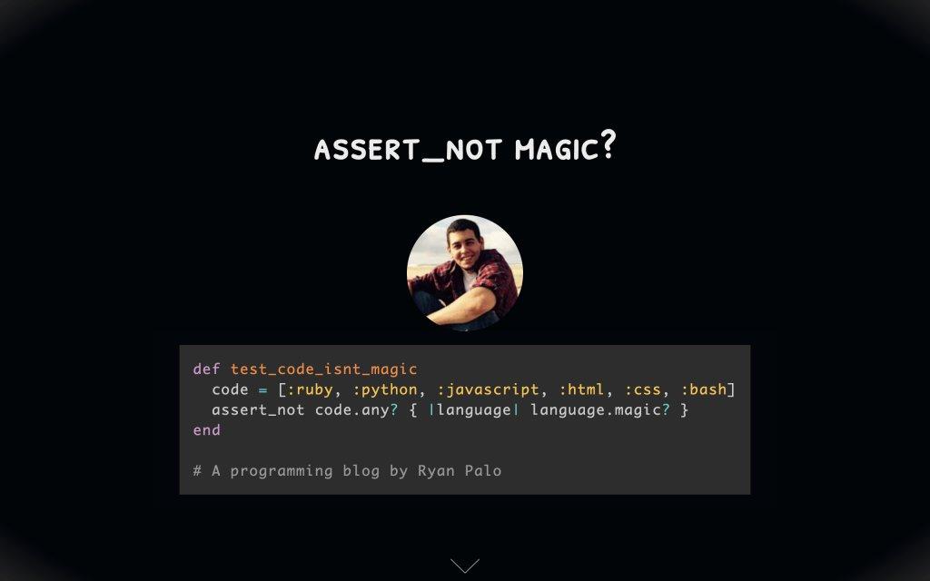 Screenshot of the website assert_not magic?