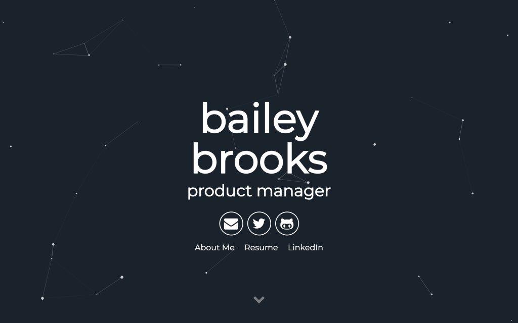 Screenshot of the website Bailey Brooks