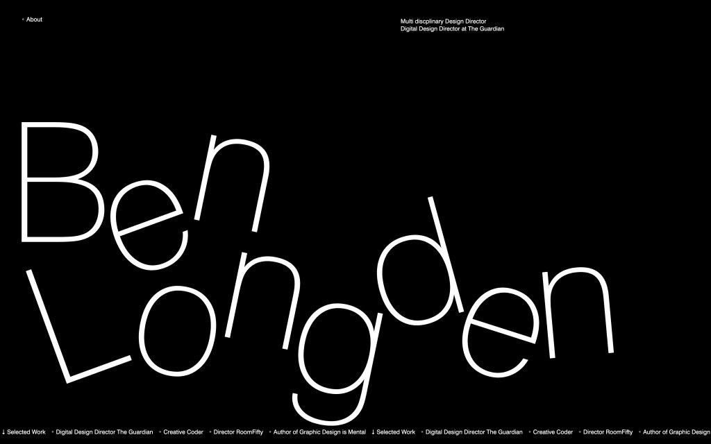 Screenshot of the website Ben Longden Design