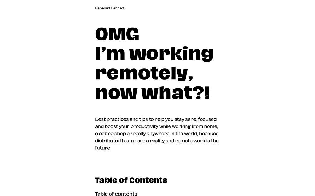 Screenshot of the website Benedikt Lehnert
