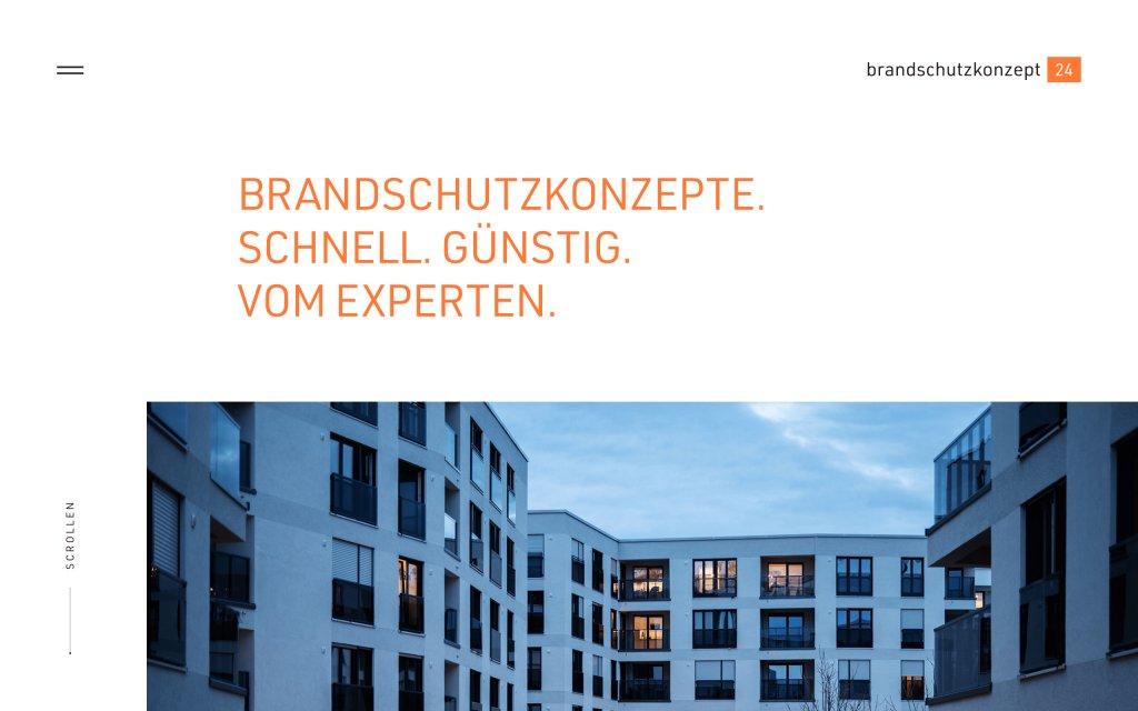 Screenshot of the website Brandschutzkonzept 24