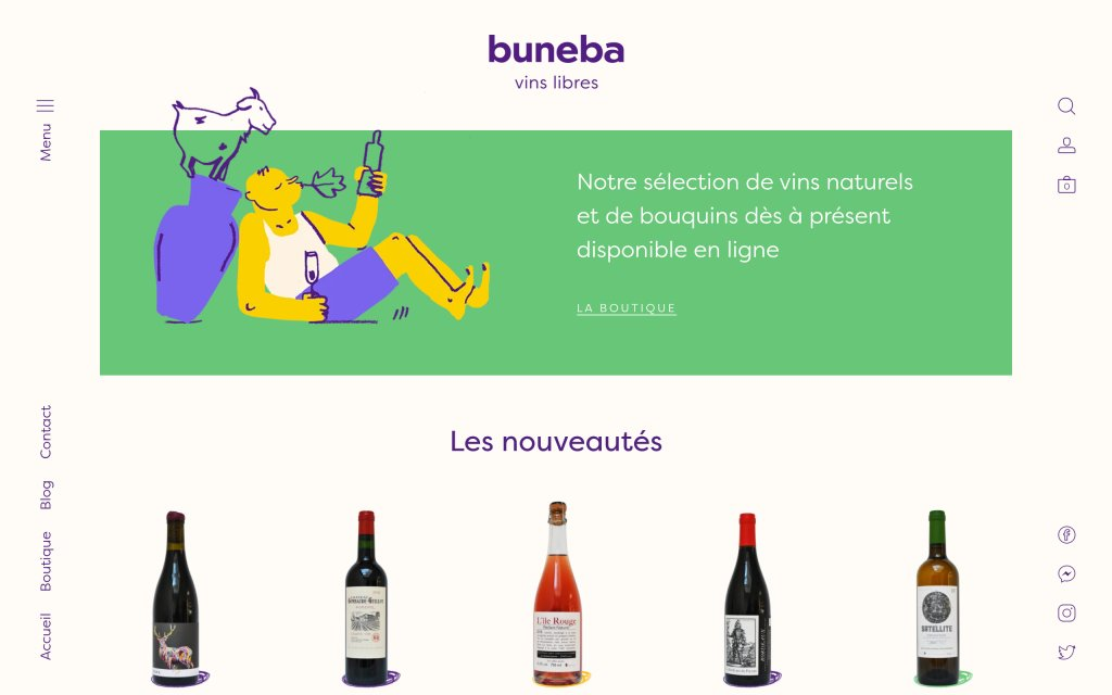 Screenshot of the website buneba