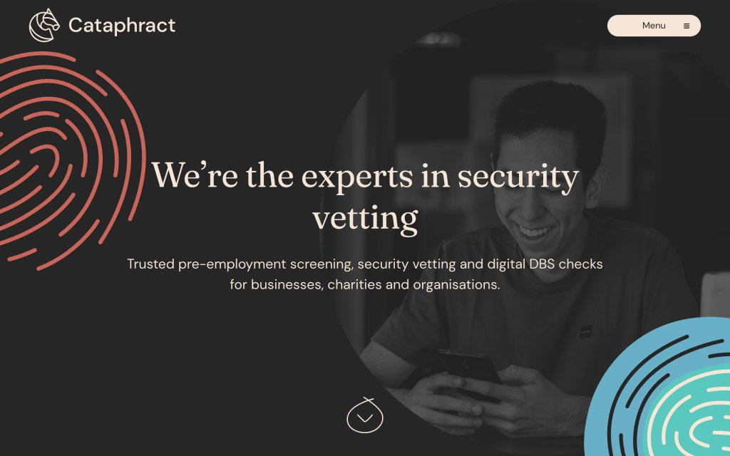 Screenshot of the website Cataphract