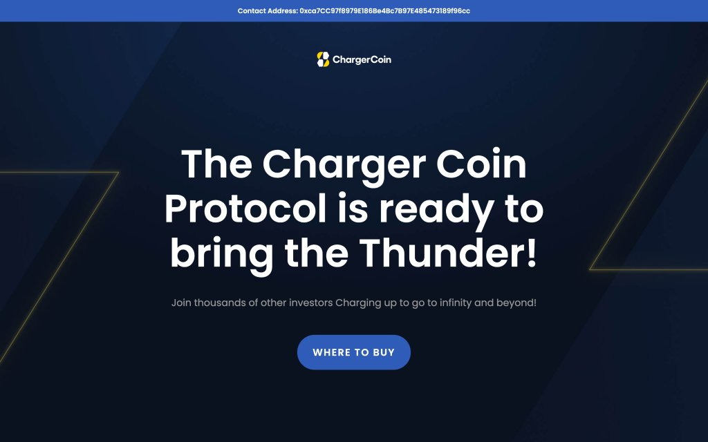 Screenshot of the website ChargerCoin
