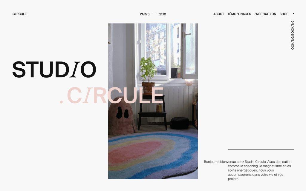 Screenshot of the website Circule