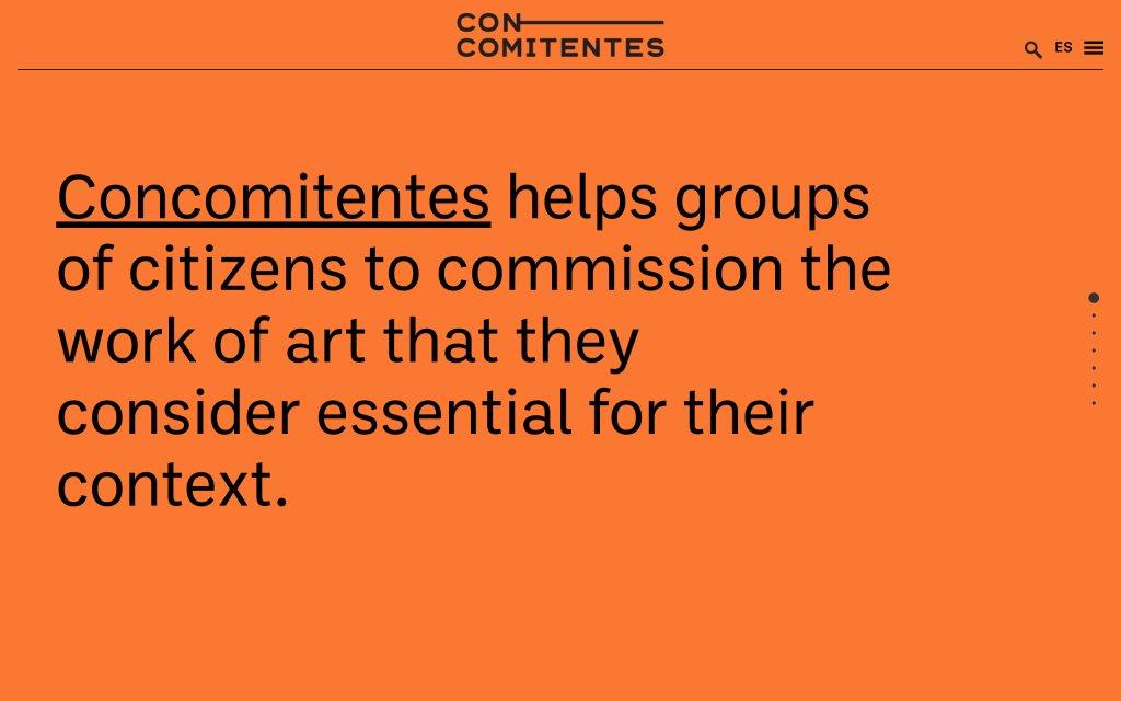 Screenshot of the website Cocomitentes