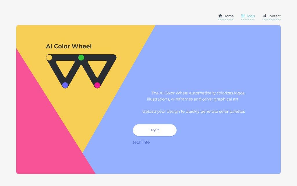 Screenshot of the website Color Wheel