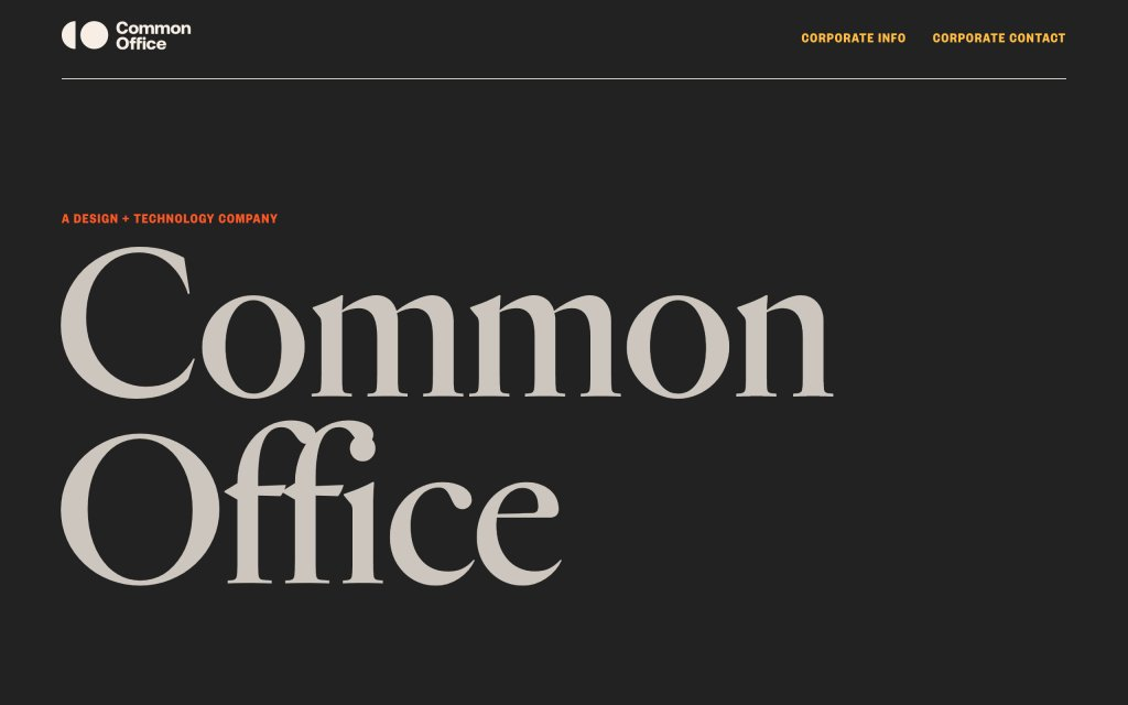 Screenshot of the website Common Office