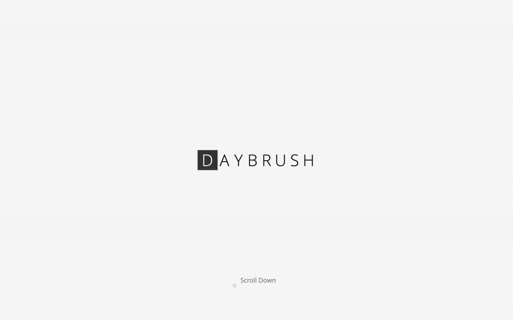 Screenshot of the website Daybrush