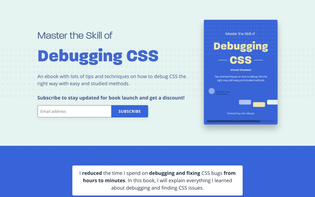Screenshot of the website Debugging CSS