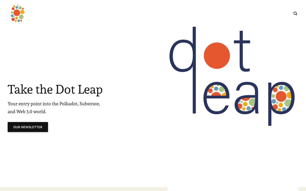 Screenshot of the website DotLeap