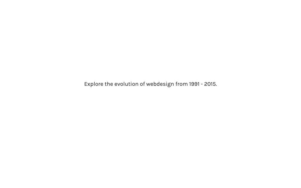 Screenshot of the website Evolution of Webdesign