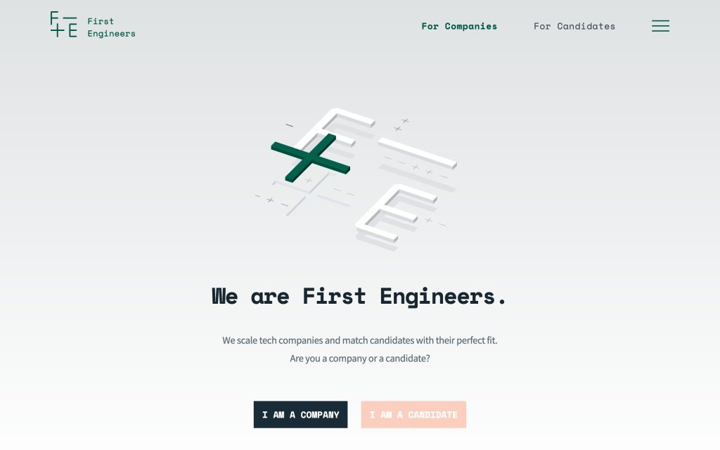 Screenshot of the website First Engineers