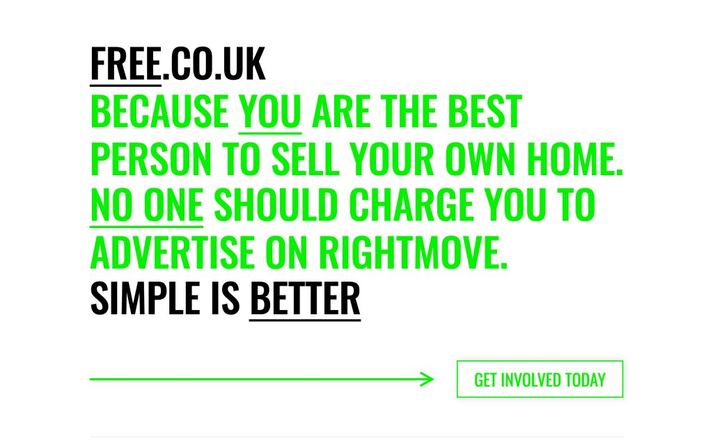 Screenshot of the website Free.co.uk