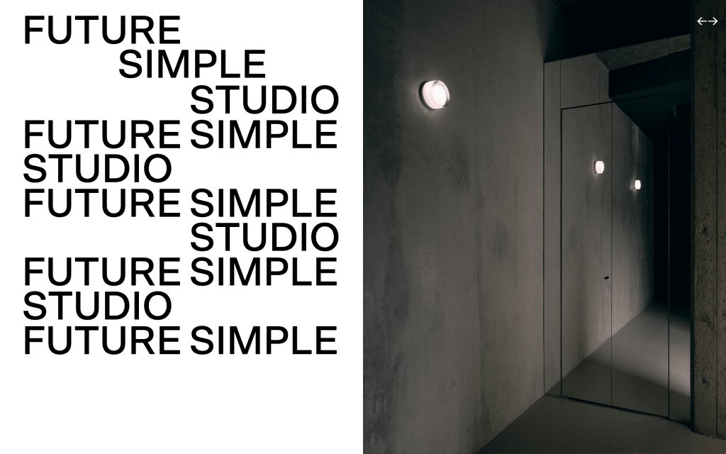 Screenshot of the website FUTURE SIMPLE STUDIO