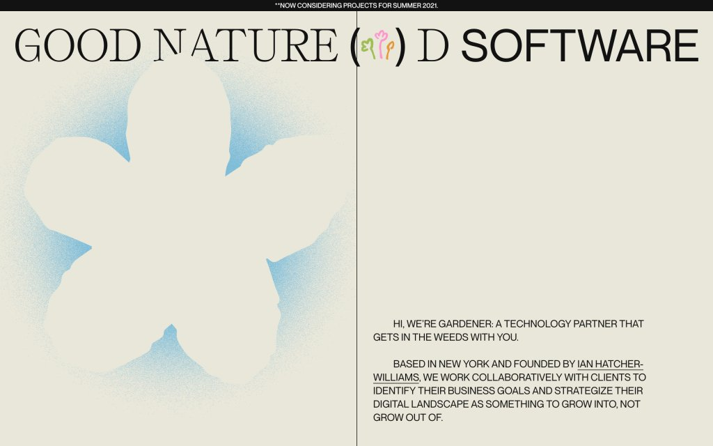 Screenshot of the website Gardener NYC