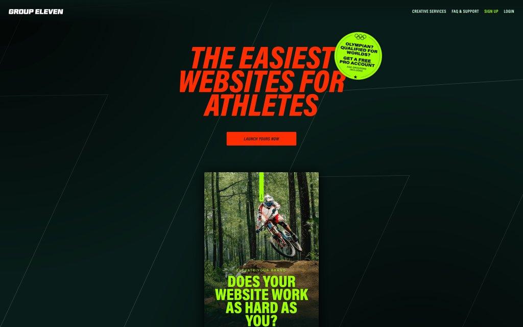 Screenshot of the website Group Eleven