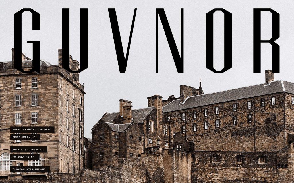 Screenshot of the website GUVNOR
