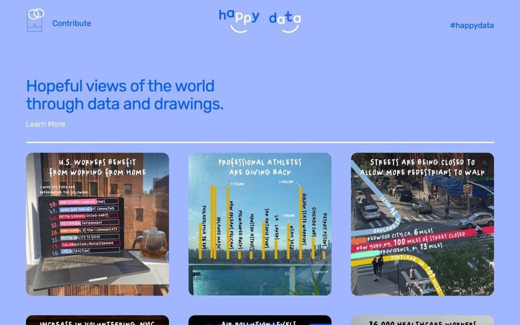Screenshot of the website Happy Data