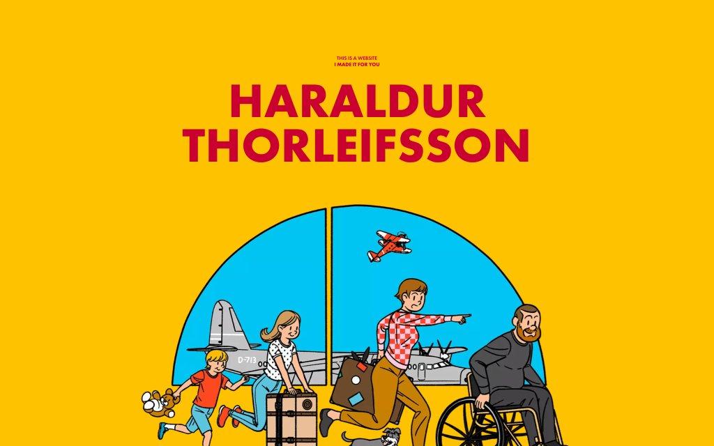 Screenshot of the website Haraldur Thorleifsson