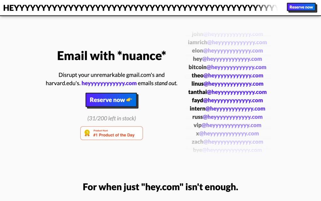 Screenshot of the website heyyyyyyyyyyyy