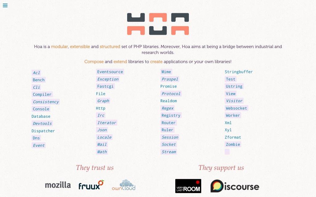 Screenshot of the website Hoa Project