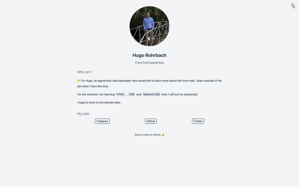 Screenshot of the website Hugo Rohrbach