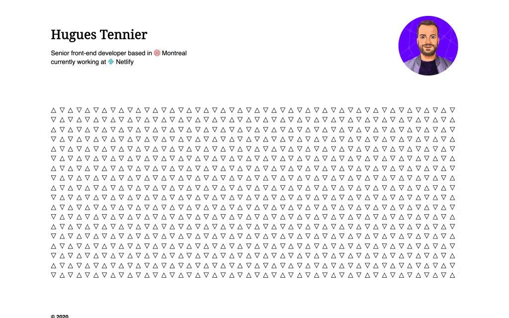 Screenshot of the website Hugues Tennier