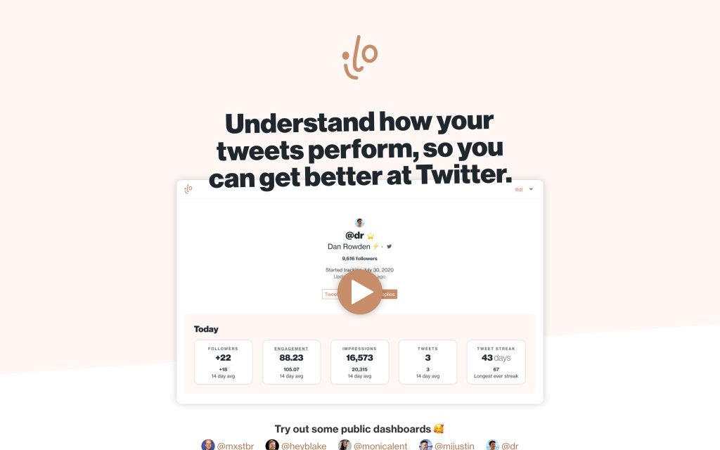 Screenshot of the website ilo