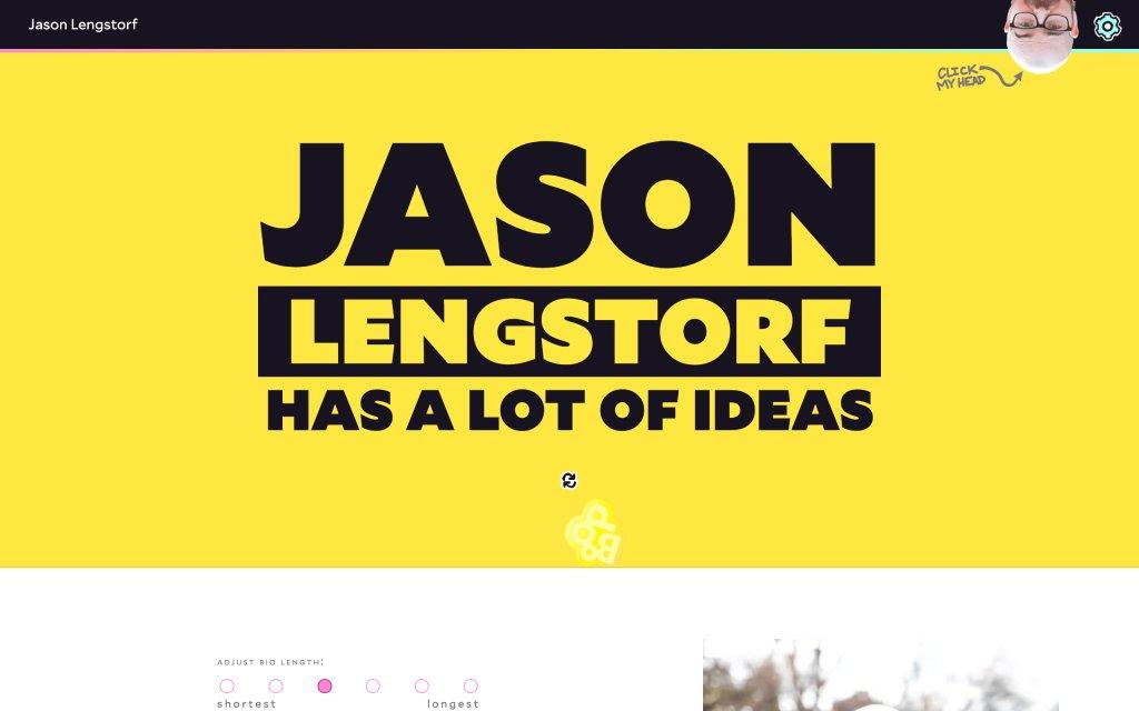 Screenshot of the website Jason Lengstorf