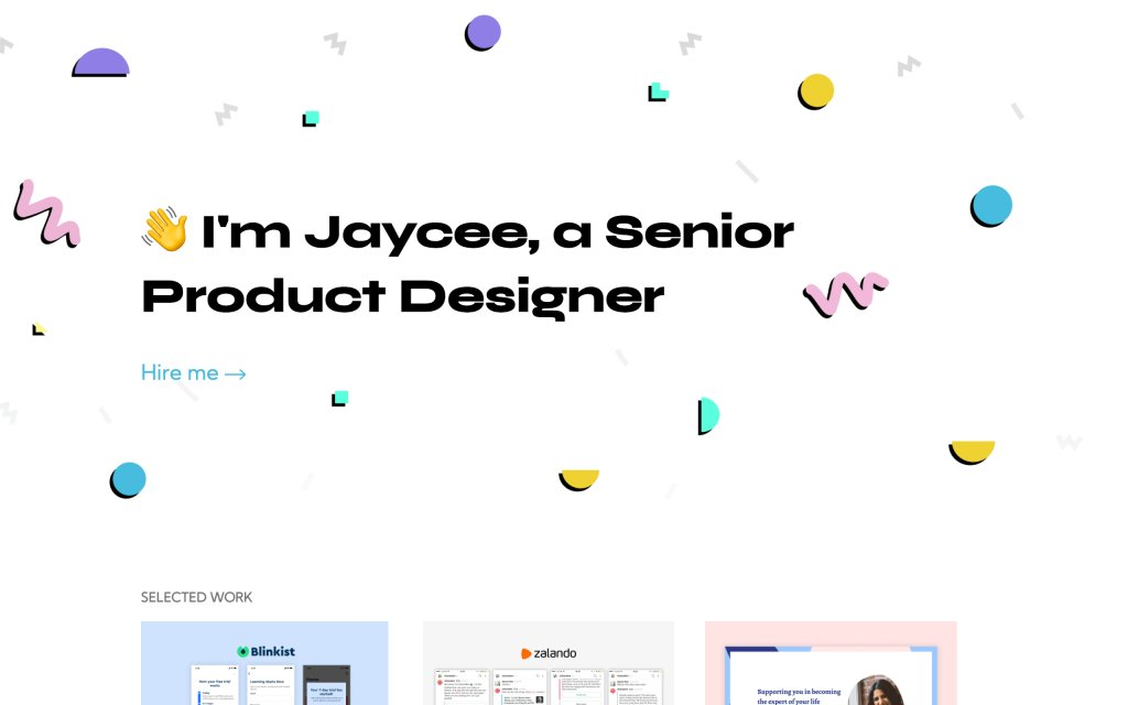 Screenshot of the website Jaycee Day