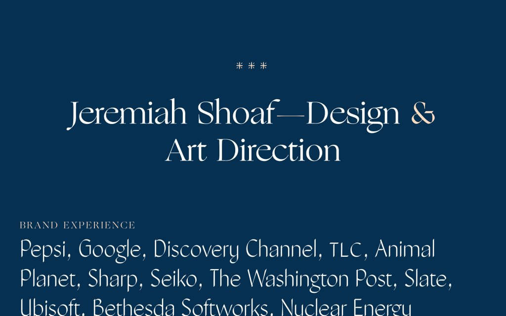 Screenshot of the website Jeremiah Shoaf