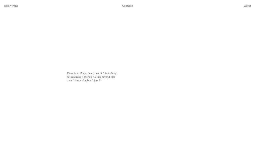 Screenshot of the website Jordi Vivaldi