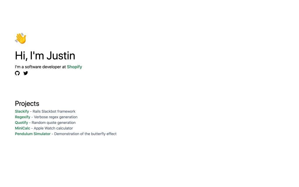 Screenshot of the website Justin Leger
