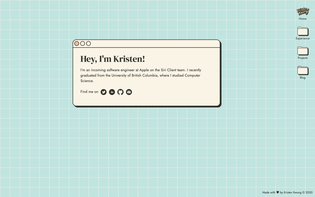 Screenshot of the website Kristen Kwong