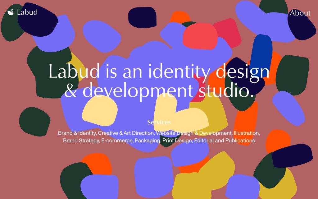 Screenshot of the website Labud