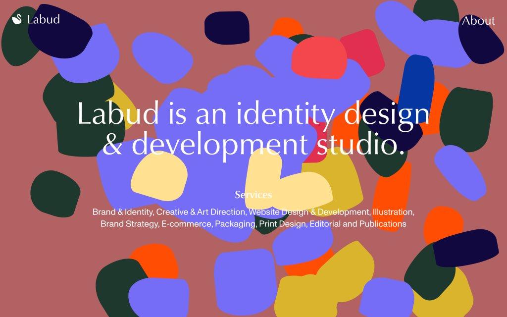Screenshot of the website Labud