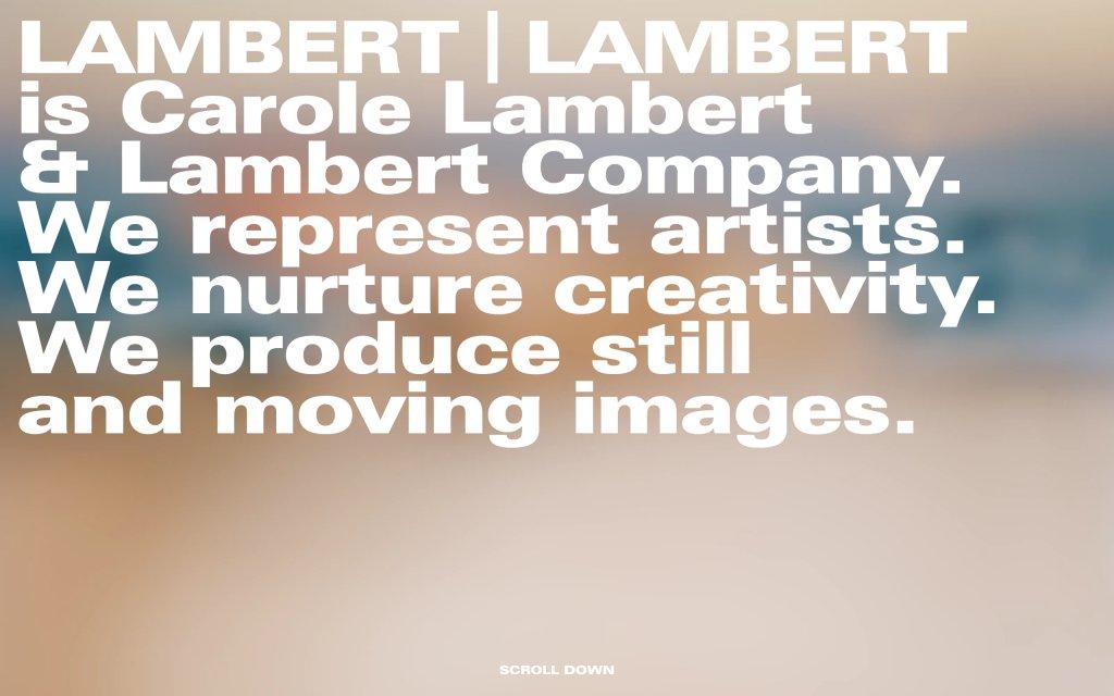 Screenshot of the website Lambert | Lambert