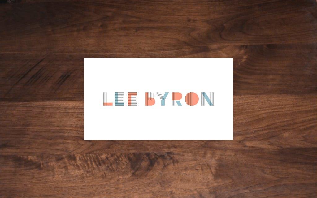 Screenshot of the website Lee Byron