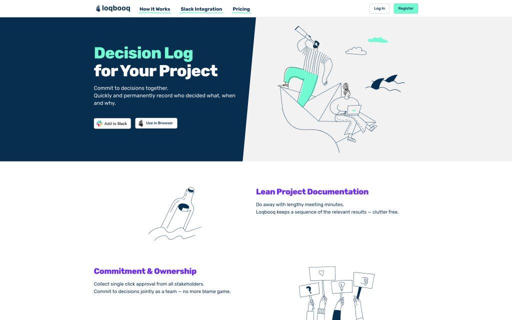 Screenshot of the website Loqbooq