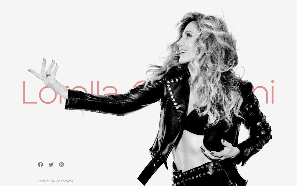 Screenshot of the website Lorella Cuccarini