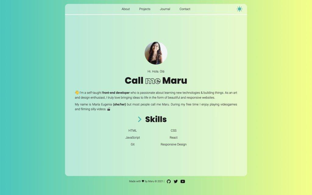 Screenshot of the website Maru Codes