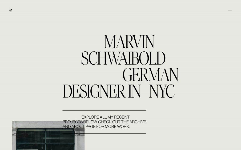Screenshot of the website Marvin Schwaibold