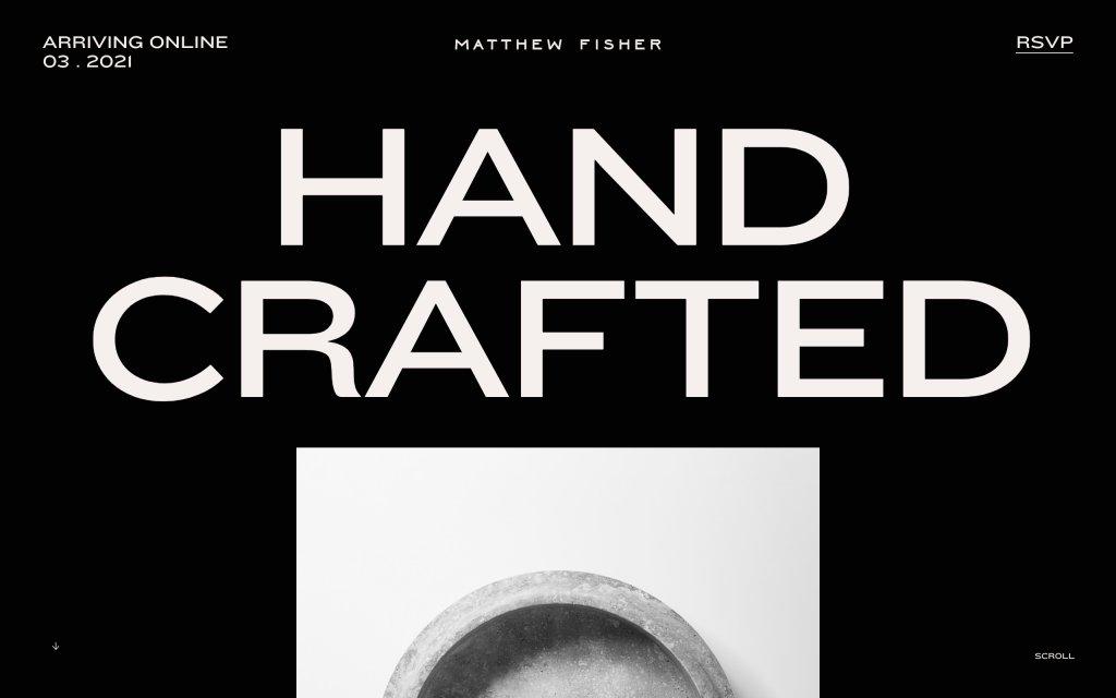 Screenshot of the website Matthew Fisher