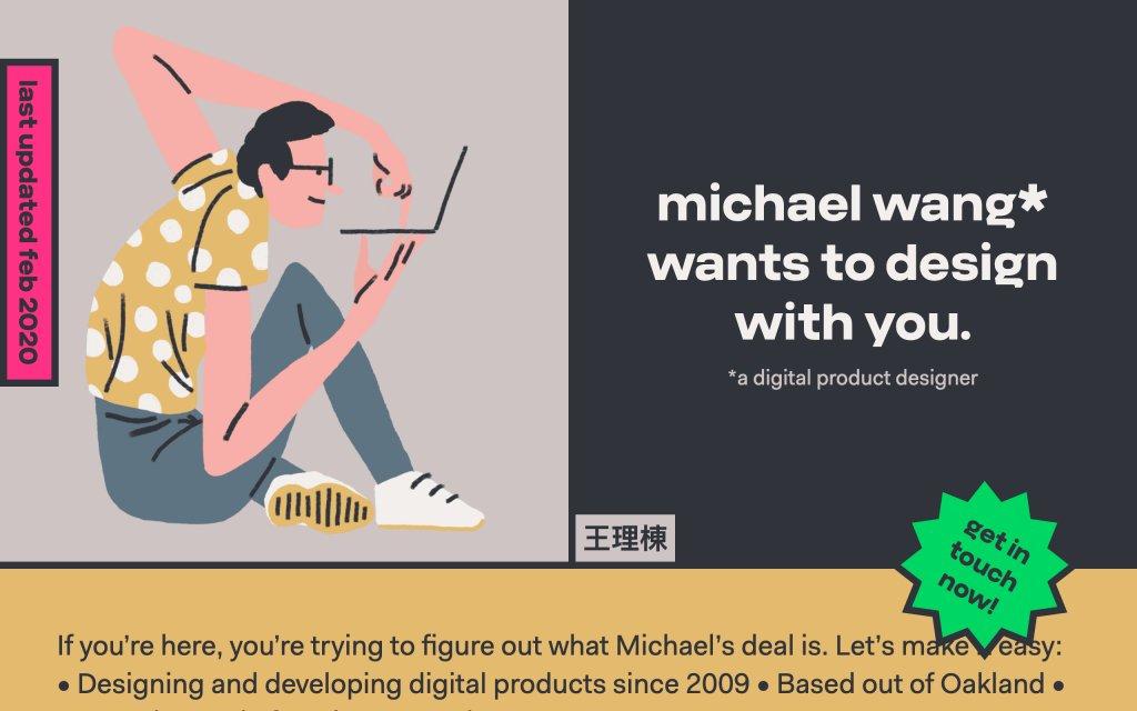 Screenshot of the website Michael Wang