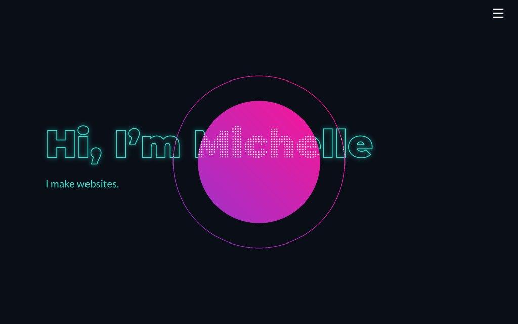 Screenshot of the website Michelle Barker