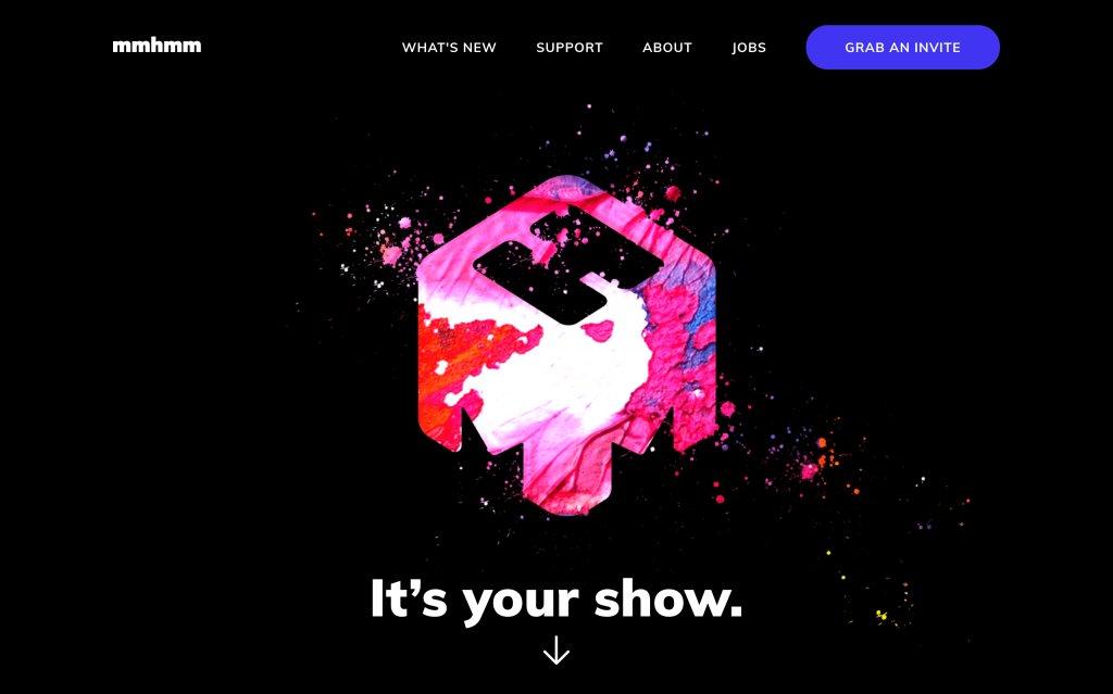 Screenshot of the website mmhmm